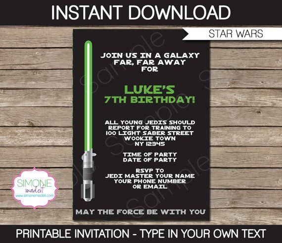 Star Wars Invitation Template Star Wars Birthday Party