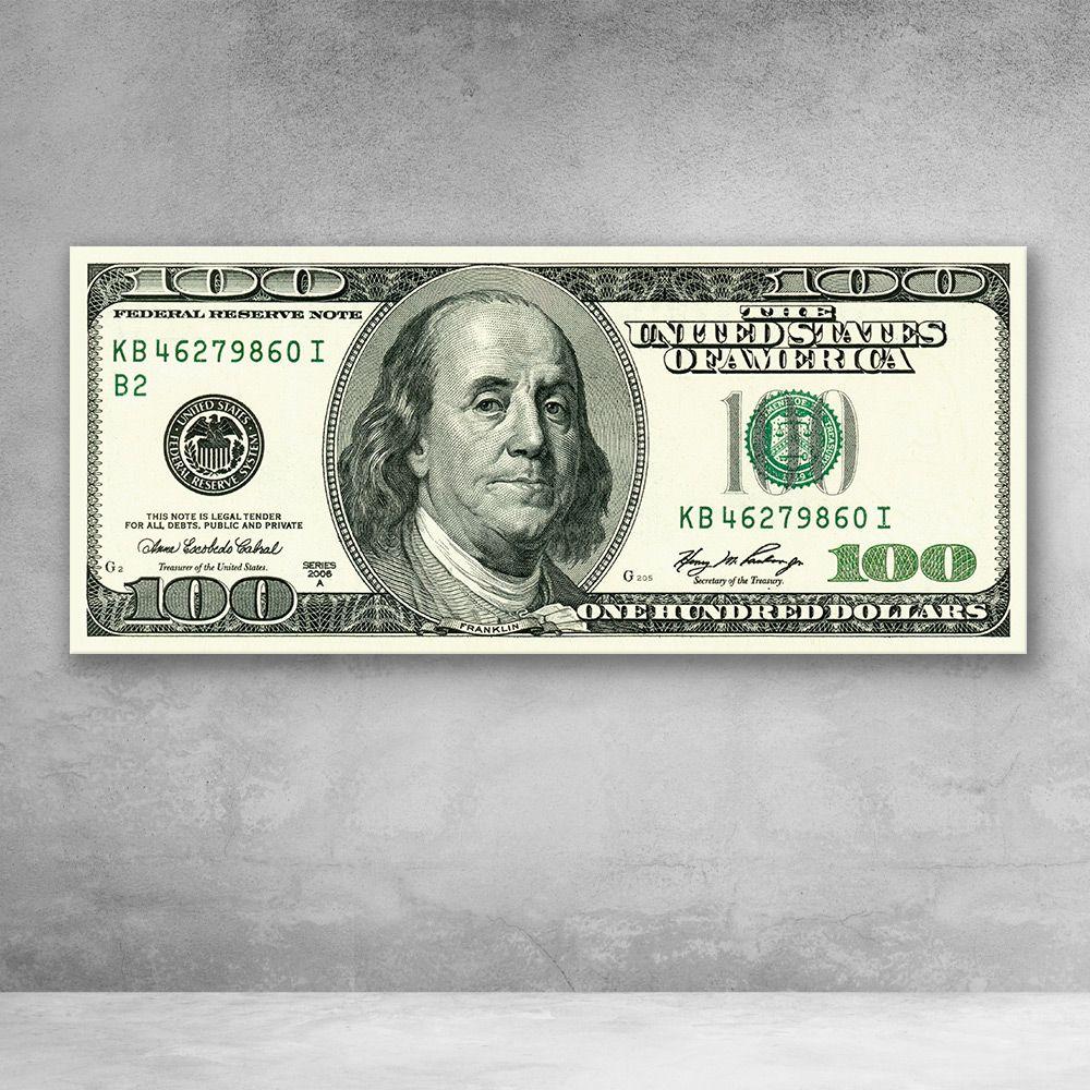 Original Ben Franklin 100 Dollar Bill Money Canvas Wall Art In 2021 Dollar Tattoo 100 Dollar Bill Dollar Bill