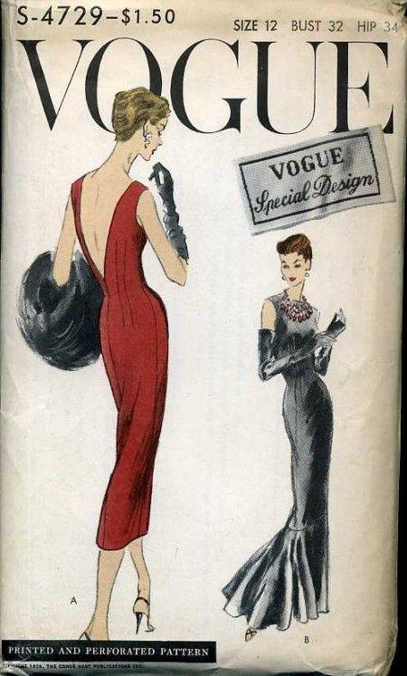 Vogue S-4729 | Bocetos de vestido, Bocetos y Figurines de moda