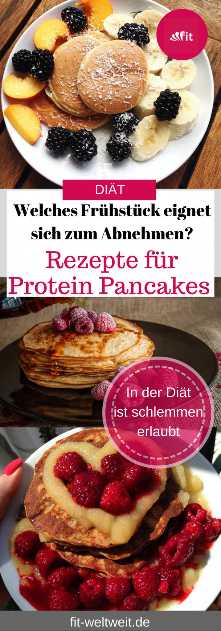 Rezepte für HCG Protein Pancakes (Stoffwechselkur und Abnehmen geeignet)