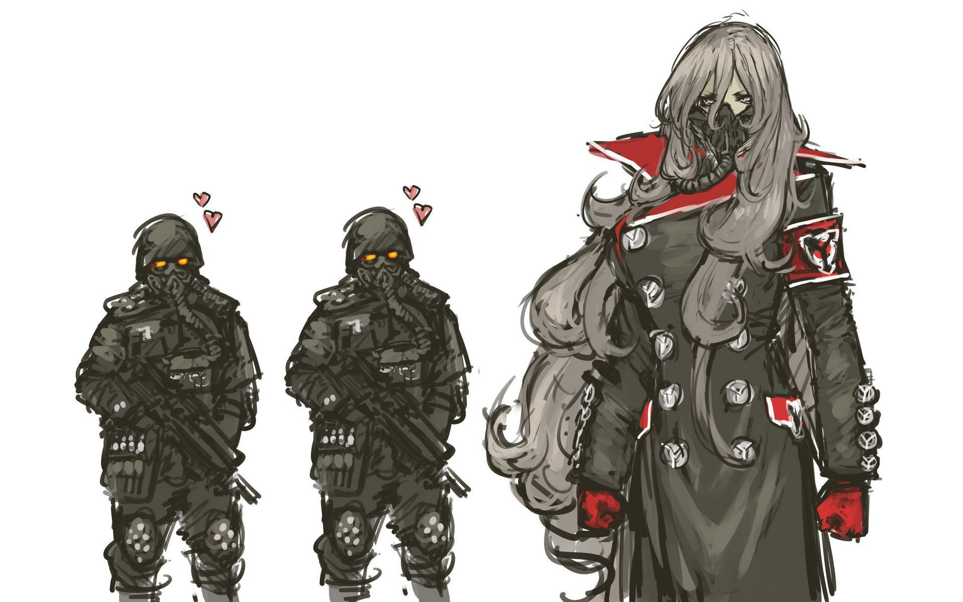 Video Game Killzone Art Video Game Army Long Hair