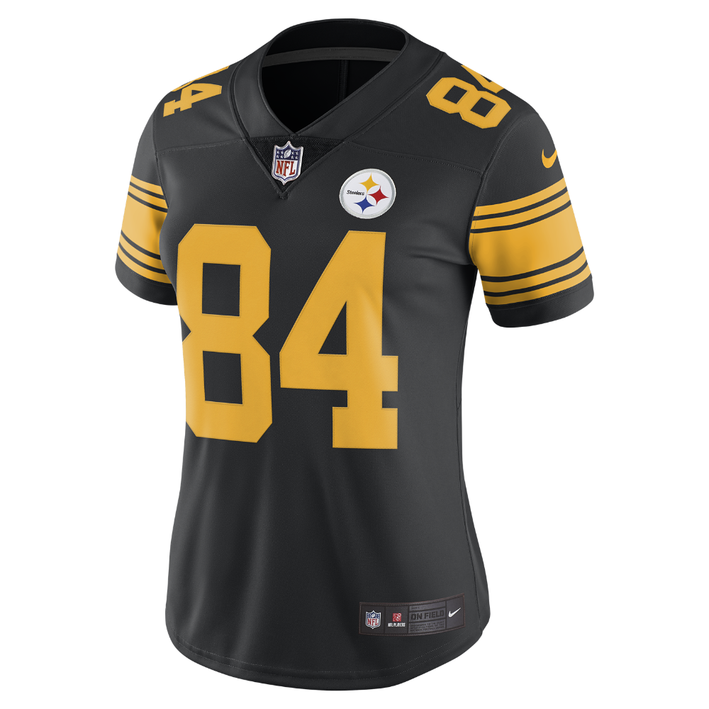 03664a20 Nike NFL Pittsburgh Steelers Color Rush Limited (Antonio Brown) Women's  Football Jersey Size