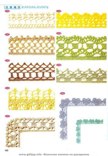 Отделка крючком - Donna Taylor - Picasa Web Albums | Crochet edgings ...