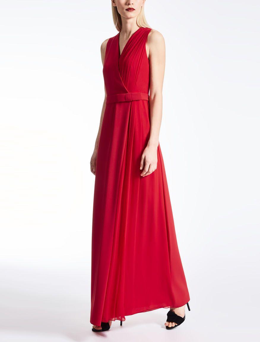 4b656fed5e2 Max Mara HULL red  Cady and silk georgette dress.