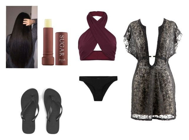 """""""Swimming"""" by mcderr ❤ liked on Polyvore featuring FELLA, Havaianas and Fresh"""