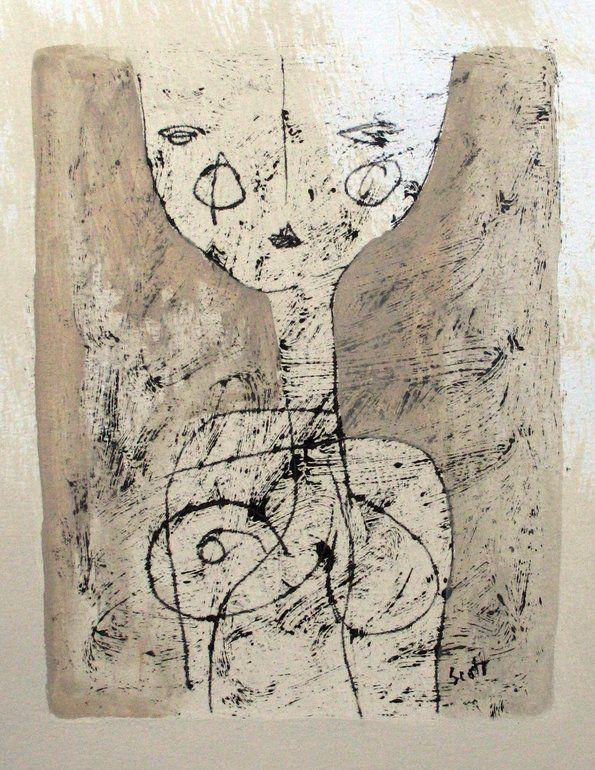 "Saatchi Online Artist: Scott Bergey; Mixed Media, 2012, Painting ""Hey!"""