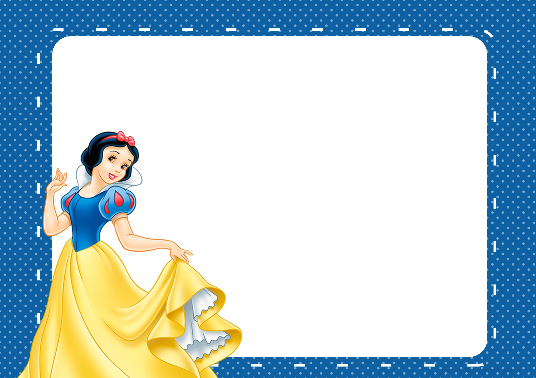 Convite Branca De Neve Azul Branca De Neve Snow White Birthday