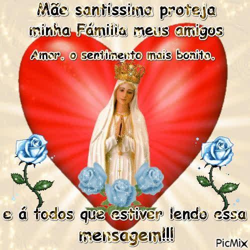 Mae Santissima Proteja Minha Familia Meus Amigos E A Todos Que