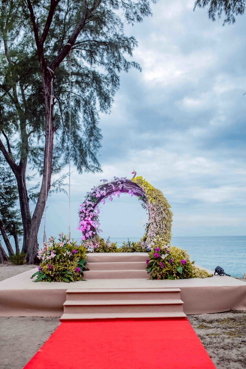 Pretty Peacock Floral Wreath For Wedding Stage Decor See More On