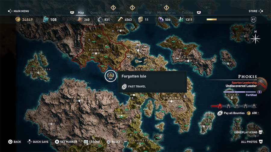 Assassin S Creed Odyssey Gates Of Atlantis Artifact Location Guide