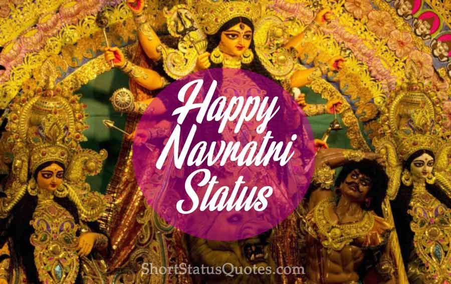 Happy Navratri status, Navratri wishes greetings and Navratri messages for Whatsapp and Facebook to help you send Navratri wishes to friends, family, colleagues, clients, neighbors or your special one. #navratriwishes