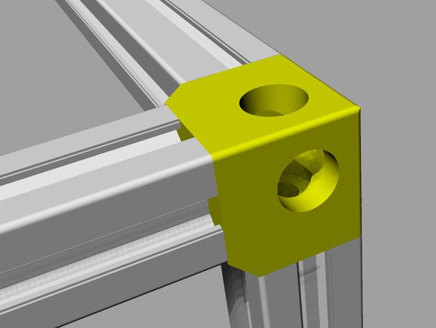 Very Strong Corner Used To Experiment With Rigidity Of Structure Build With Extruded Aluminium Bars 2020 Aluminum Extrusion Design Extrusion Extruded Aluminum