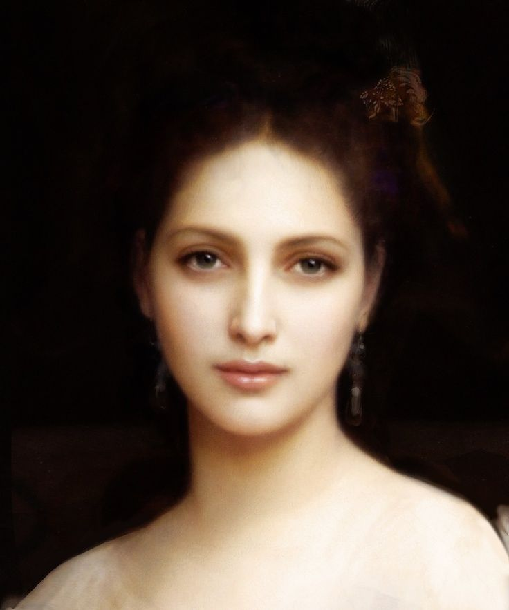 Aphrodite by William-Adolphe Bouguereau (French, 1825–1905).  If the weak-willed, slack minded Paris had not listened to her purring in his ear, a lot of pain and strife could have been avoided.                                                                                                                                                     More