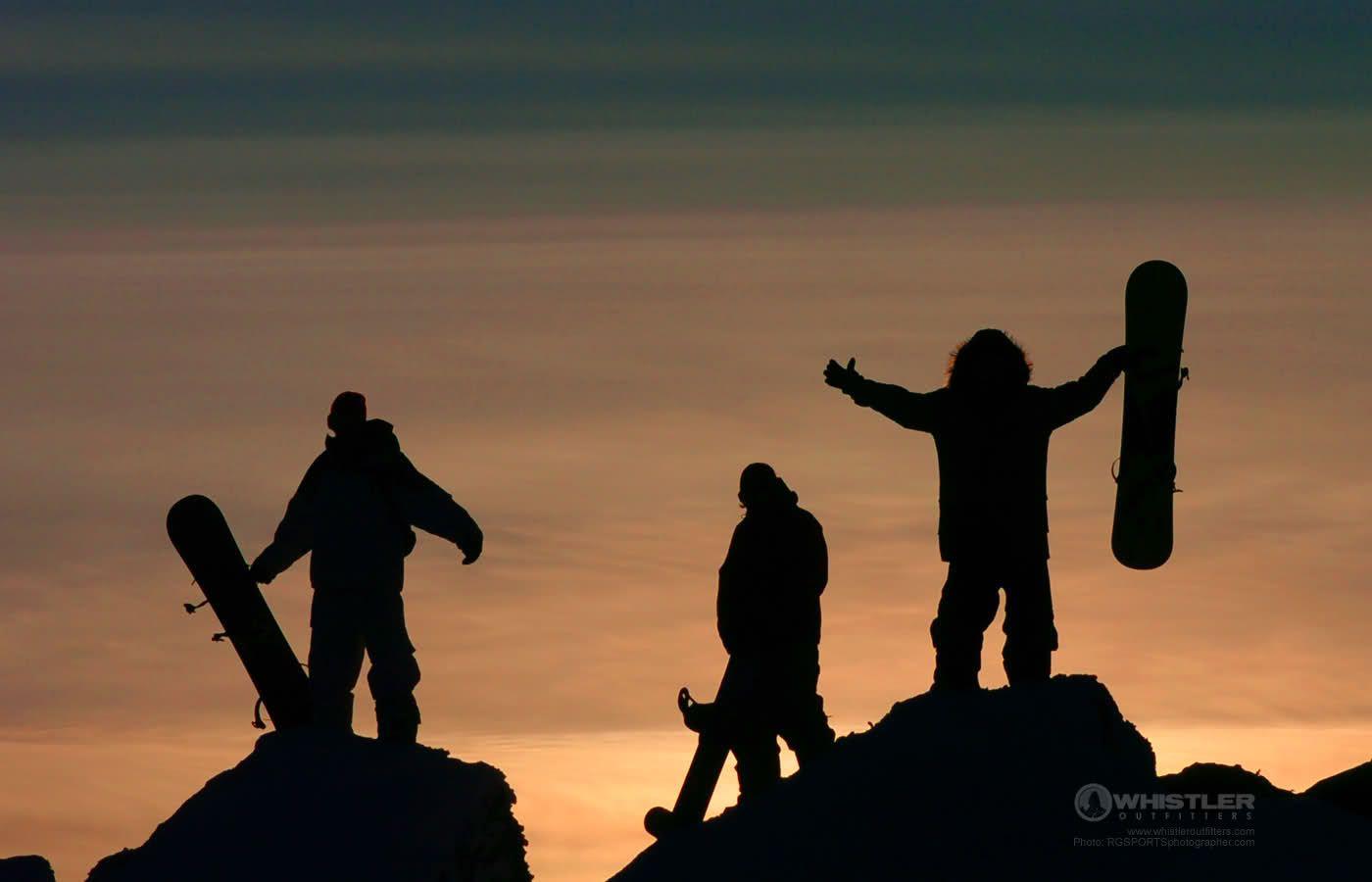 Whistler Sunset! <3 #snowboarding