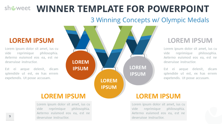 Free winner template for powerpoint with 3 winning concepts and free winner template for powerpoint with 3 winning concepts and olympic medals toneelgroepblik Gallery