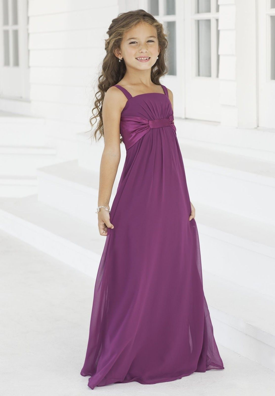 October 4  Purple flower girl dress, Purple girls dress, Long