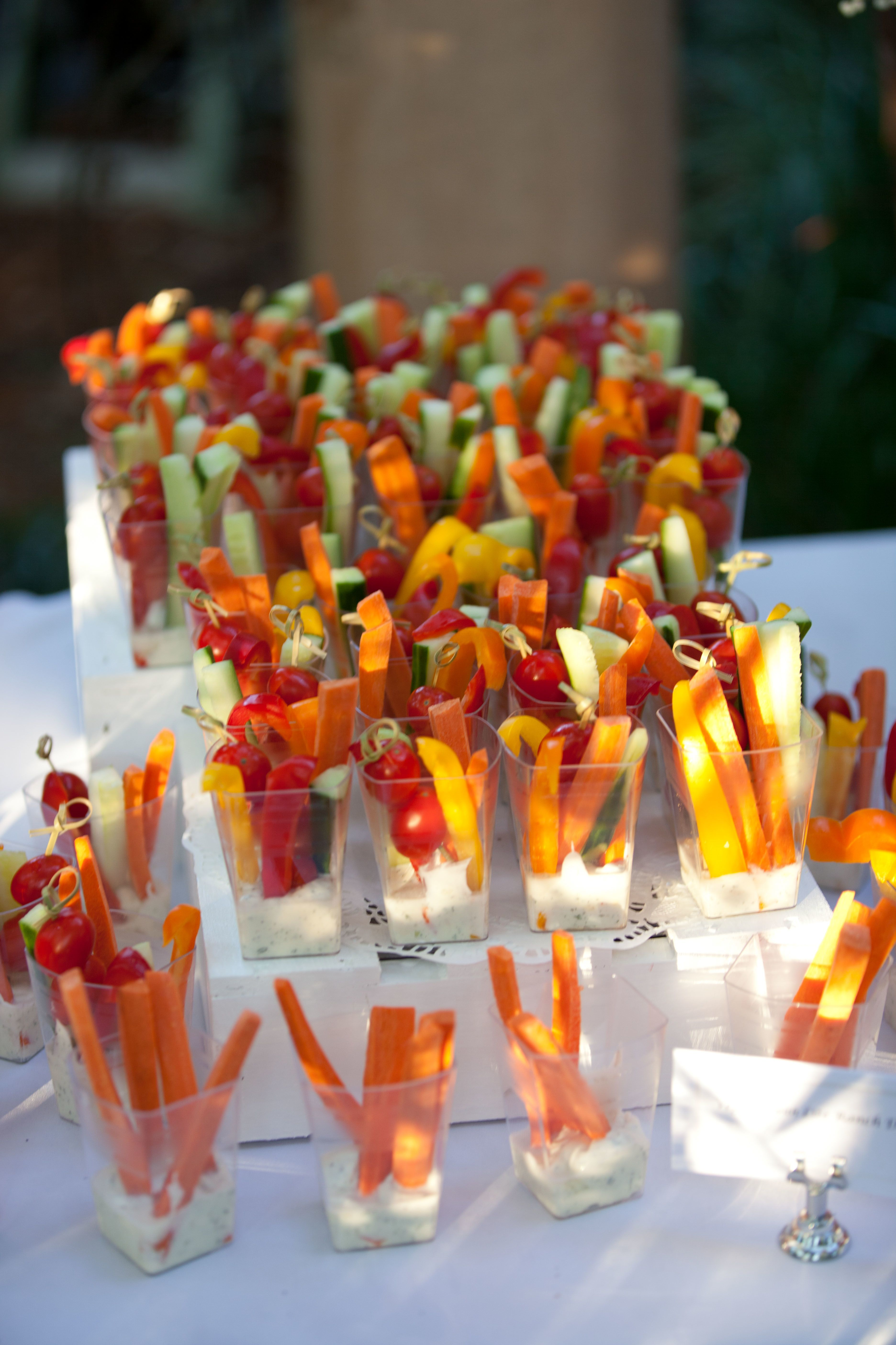 Vegetable Cup Hors D'Oeuvres