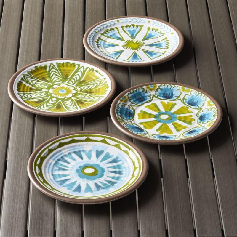 Crate and Barrel-Caprice Melamine Plates Set of Four & From tapas parties to casual dinners with friends appetizer and ...