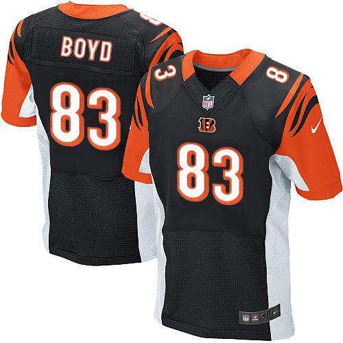 Cincinnati Bengals #83 Tyler Boyd Black Team Color NFL Elite Jersey