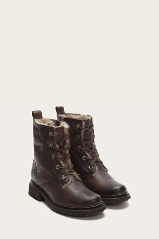1b86c5b3f8a7e Valerie Lace Up Shearling. Valerie Lace Up Shearling Frye Boots, Combat ...