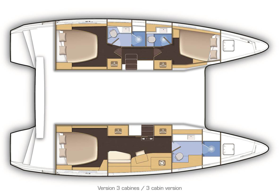 Lagoon 42 3 cabin layout   Sailing in 2019   Catamaran