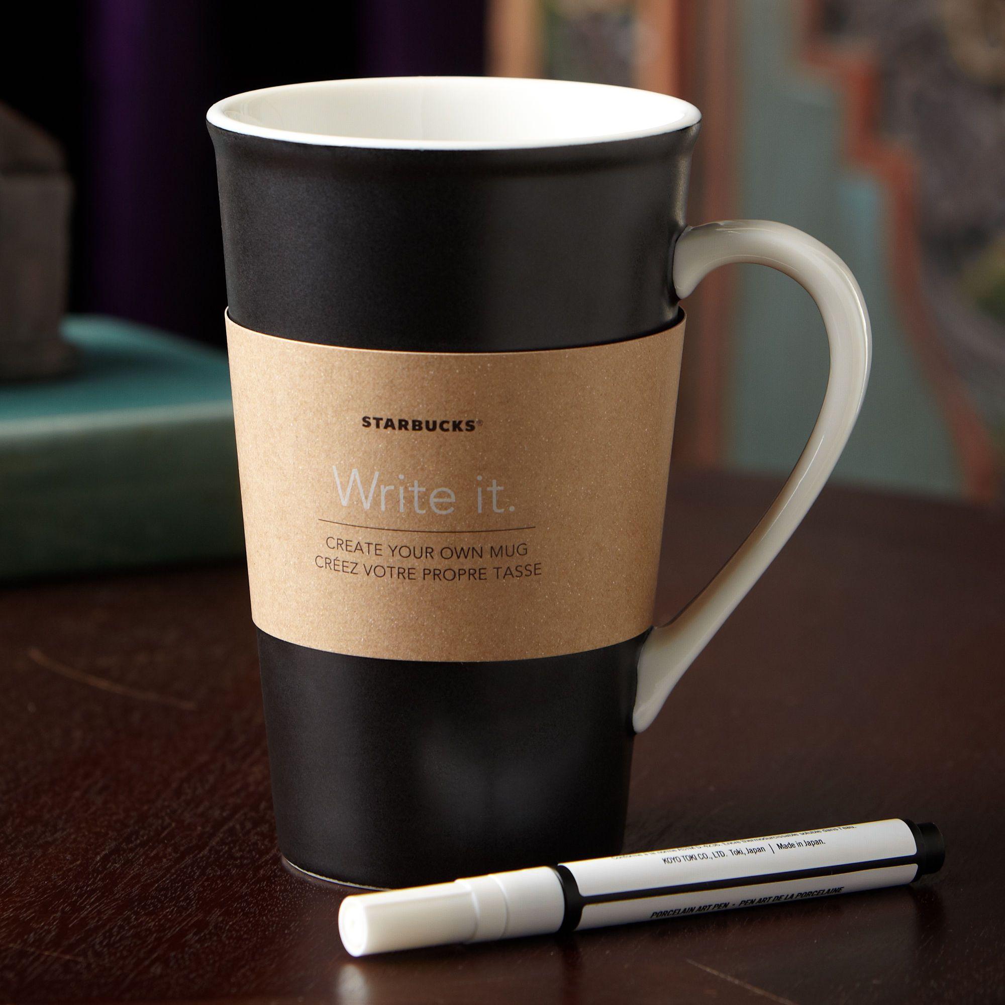 Starbucks Create Your Own Mug 16 Fl Oz With Glazing Pen A