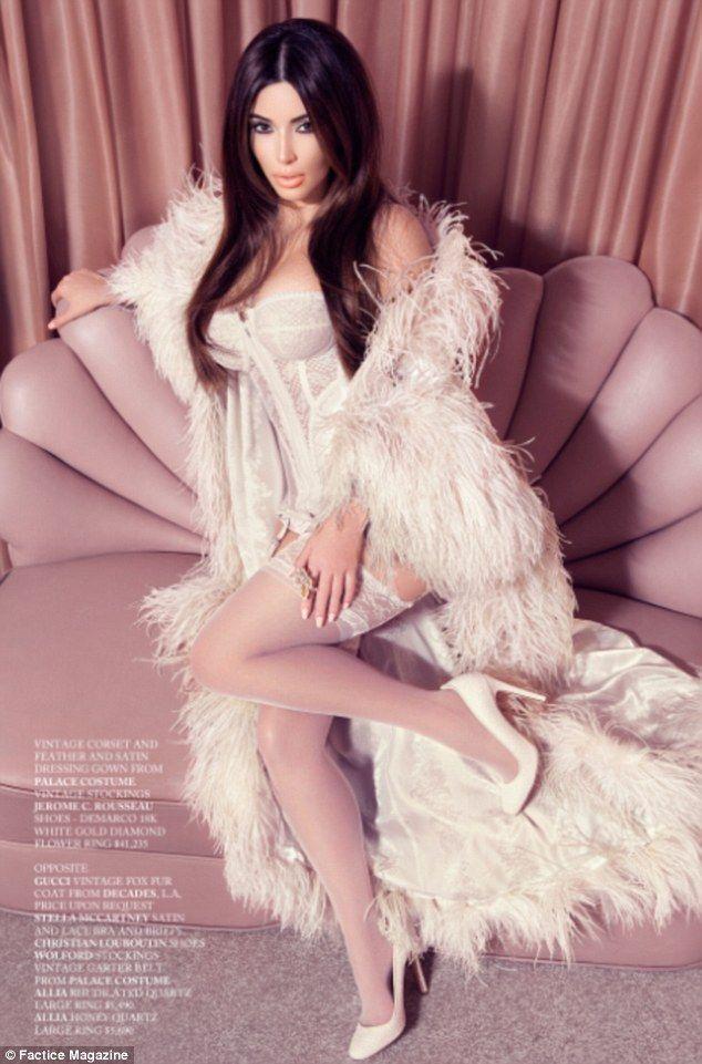 Stockings, Lace and Kim kardashian on Pinterest