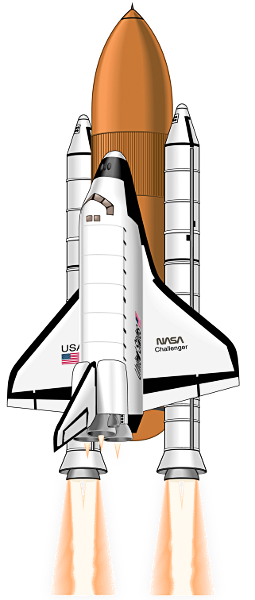 Free to use public domain space shuttle clip art for Space shuttle quilt