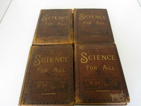 Antique Science Book Set For