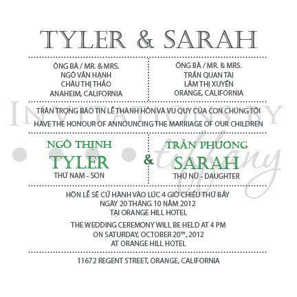 Printable Bilingual Vietnamese Wedding By Invitationsbytiffany Vietnamese Wedding Wedding Orange California