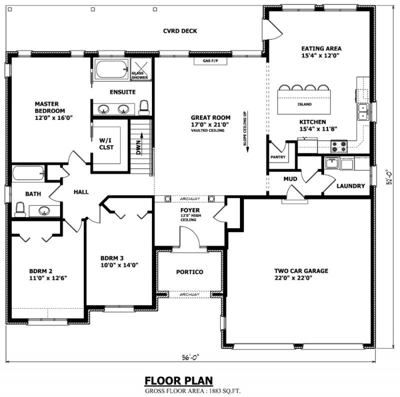 Oshawa Floor Plan Love This But Would Only Go One Floor Turn Stairwell Into Storage One Level House Plans Custom Home Plans Home Design Floor Plans