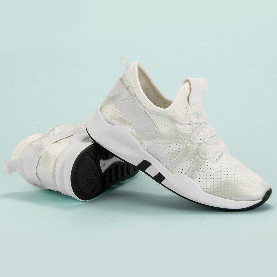 Modne Buty Sportowe Biale Adidas Tubular Shoes Sneakers