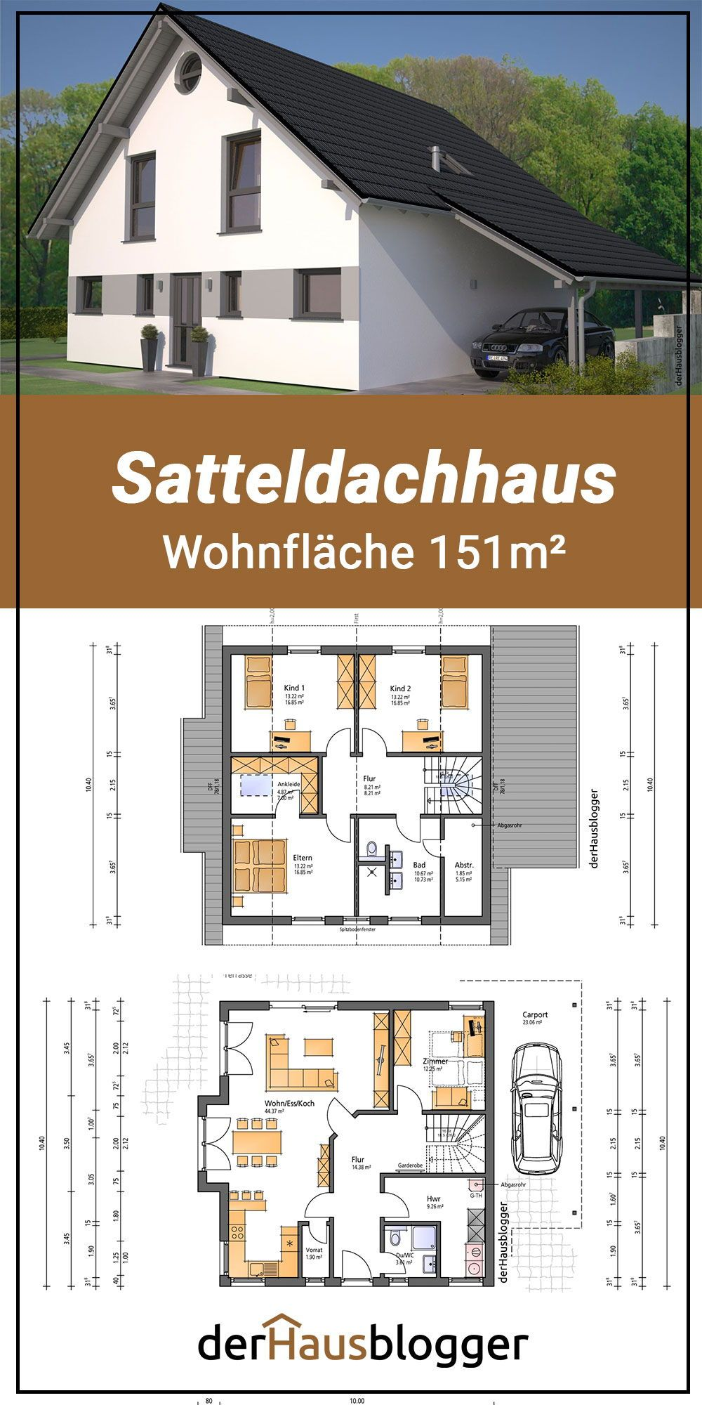 Grundriss Satteldachhaus 151m2