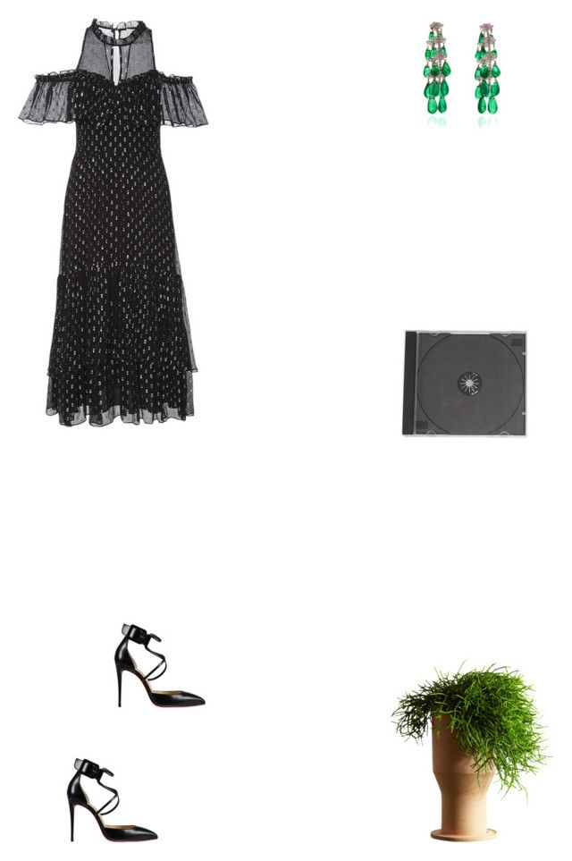 """""""Grace"""" by zoechengrace on Polyvore featuring Rebecca Taylor, Christian Louboutin and Internoitaliano"""