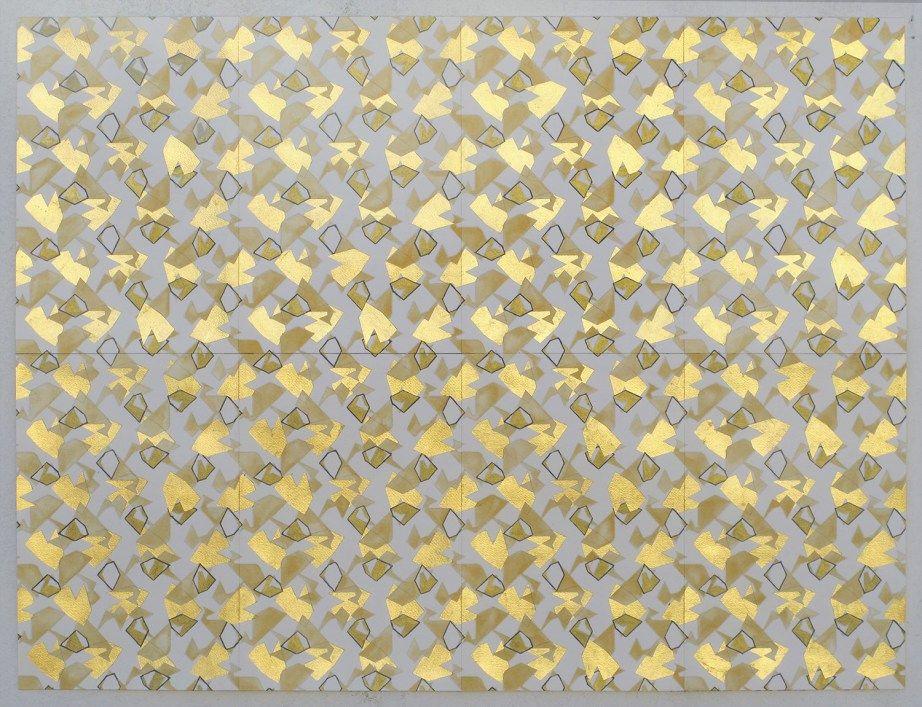 ORO. Acuarela dorada, tinta dorada y pan de oro sobre papel. En proceso. Buenos Aires, 2014. Ver en Flickr en alta definición. ORO. Acuarela...