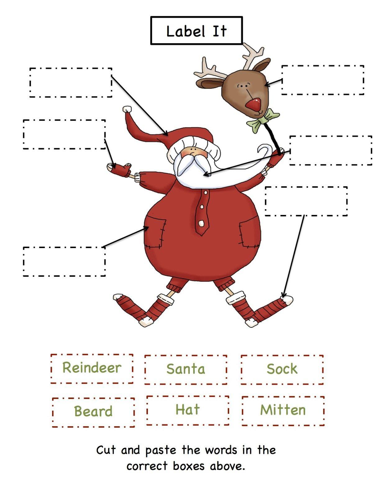 Preschool Printables Christmas