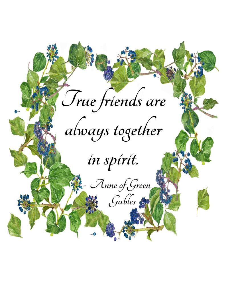 Anne Of Green Gables Printable Download Literary Quote True