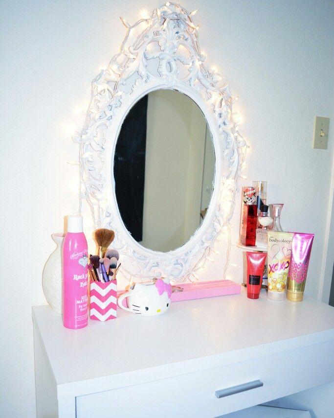 My vanity my husband got me for Christmas last year! @ariananicolexo