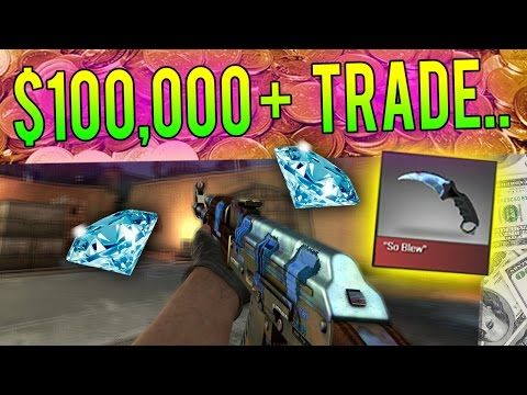 CS:GO The New Biggest Trade $100000 for ONE Knife