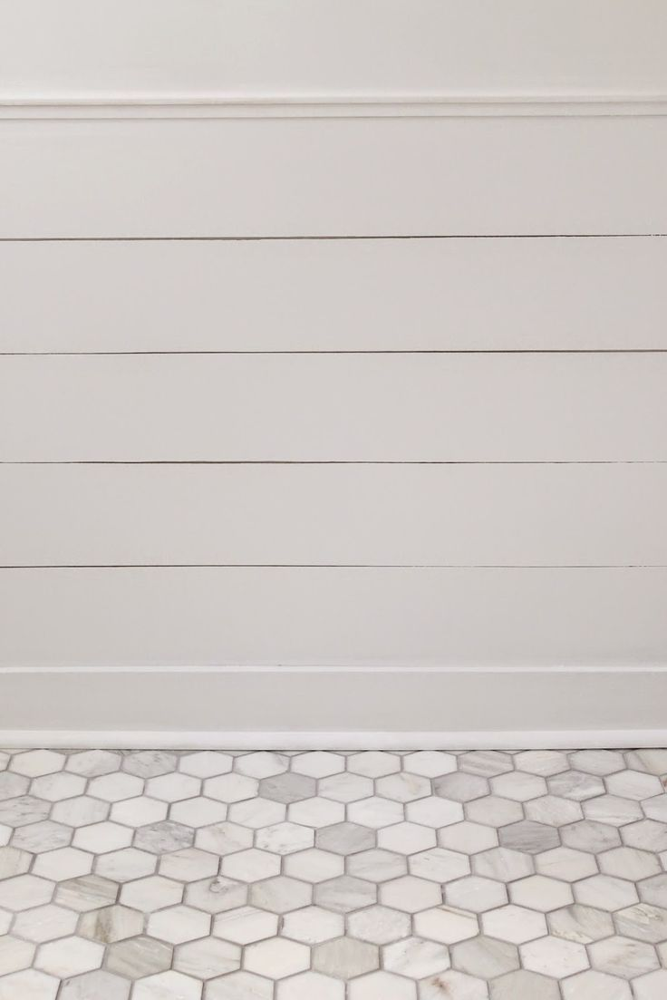3x3 carrara hex tile with delorean gray grout (simple grout from HD ...