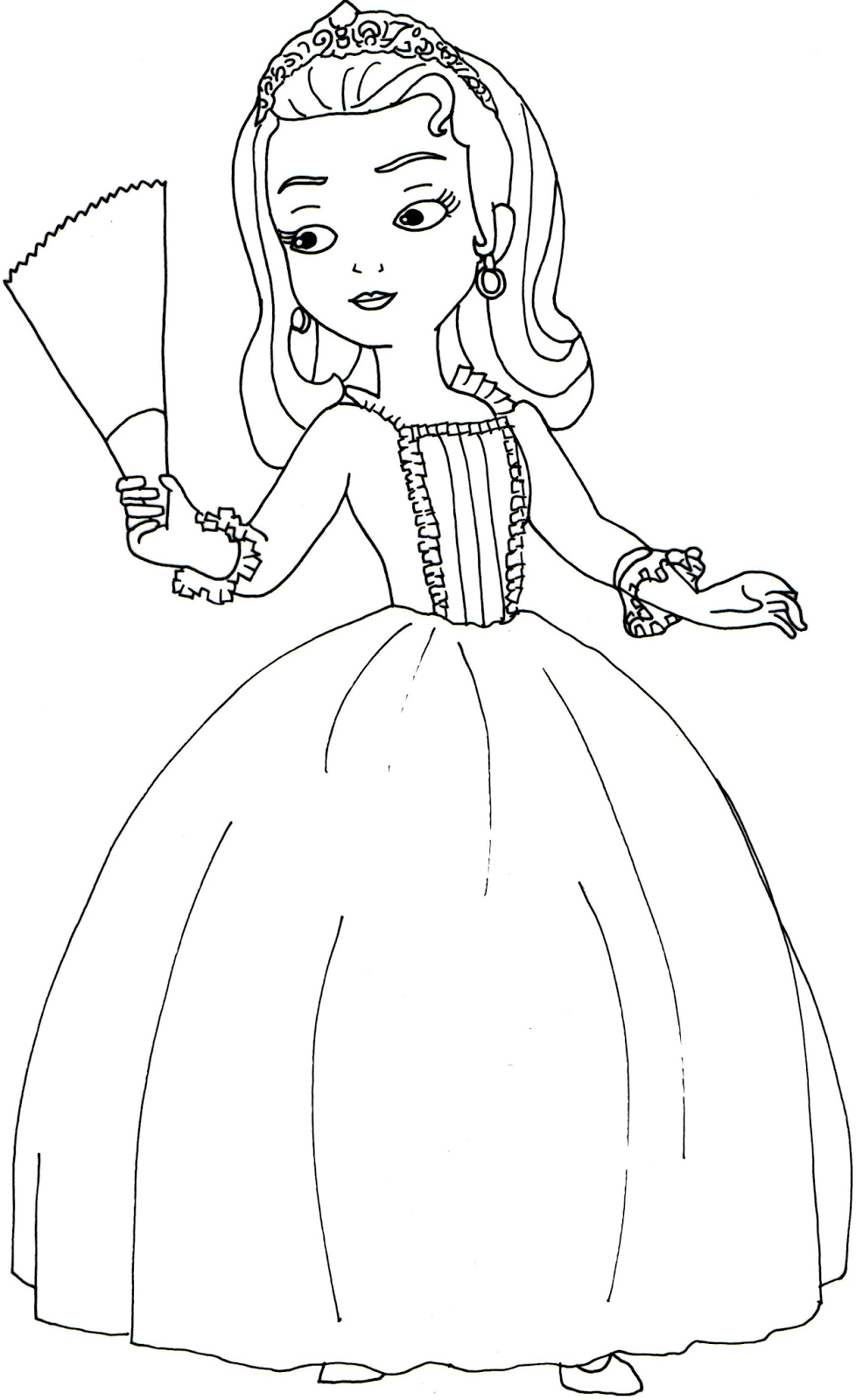 sofia coloring pages | Princess Sofia the First Coloring Pages ...