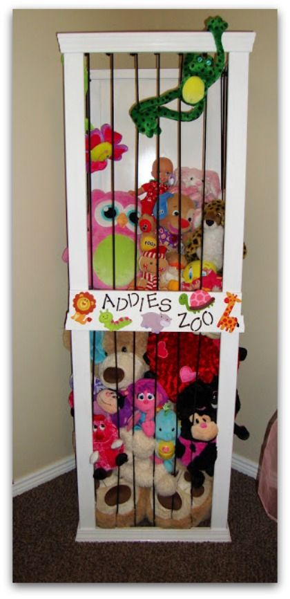 Cute Animal Collapsible Toy Storage Organizer Folding: What A Cute Way To Organize Stuffed Animals! And There's