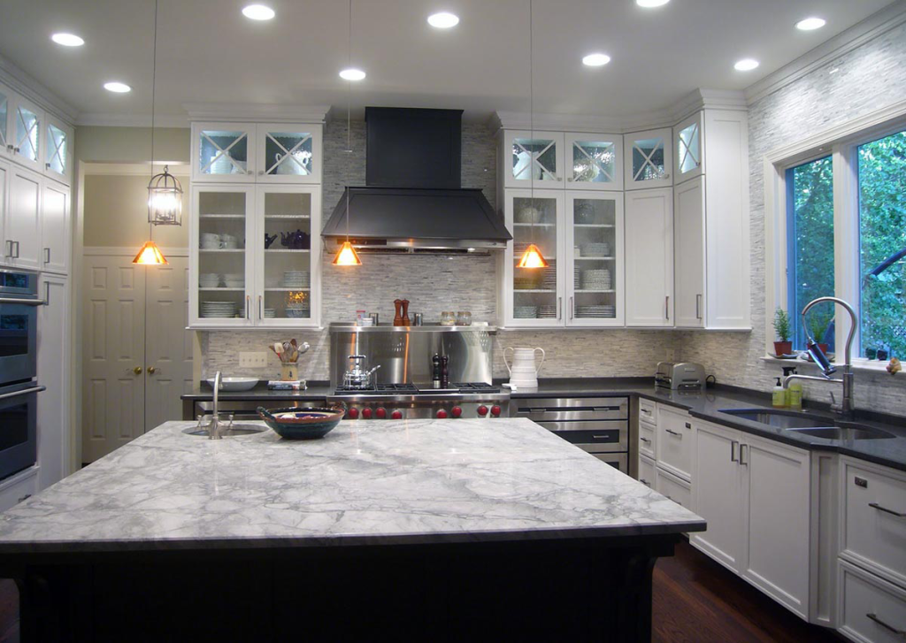 You can play around with the contrast with this granite - look at ...