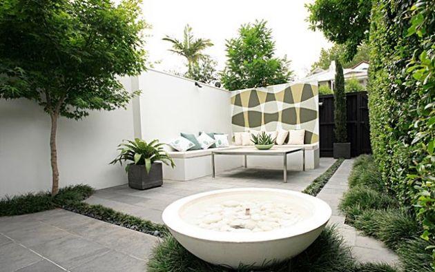 Jardines minimalistas gardens pinterest jard n - Fuentes para patios y jardines ...