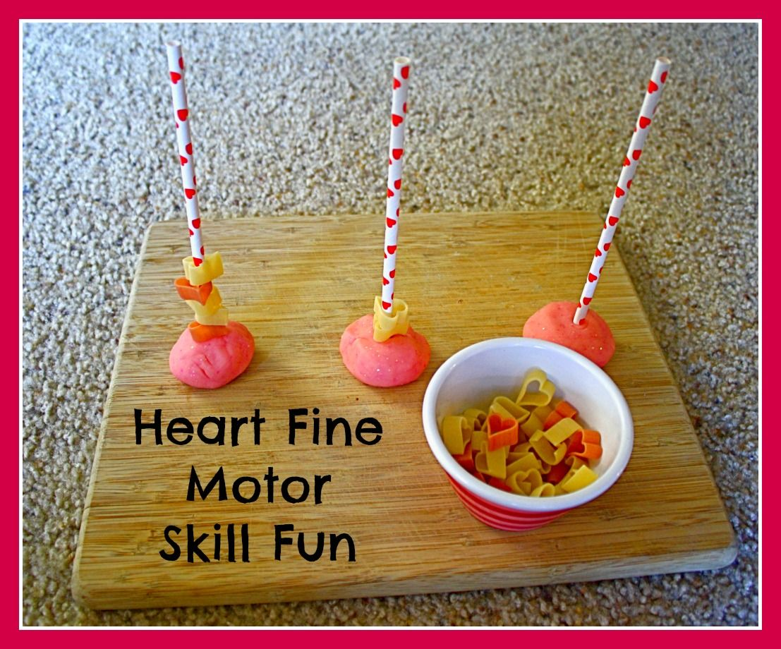 Activities For Toddlers Heart Themed Fine Motor Activity