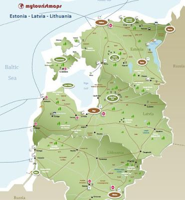 interactive tourist map ESTONIA LATVIA LITHUANIA Lithuania