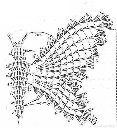 Patrones para Crochet: Top Mariposa Patron   costuras   Pinterest ...