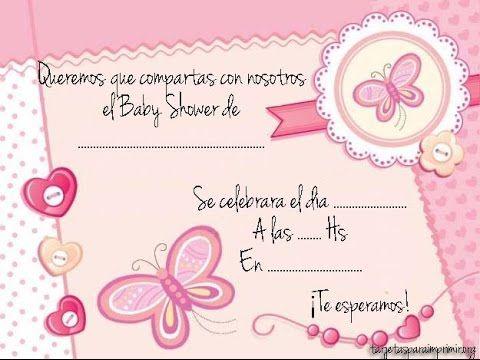 Invitaciones De Baby Shower De Niña Para Editar Invitacion