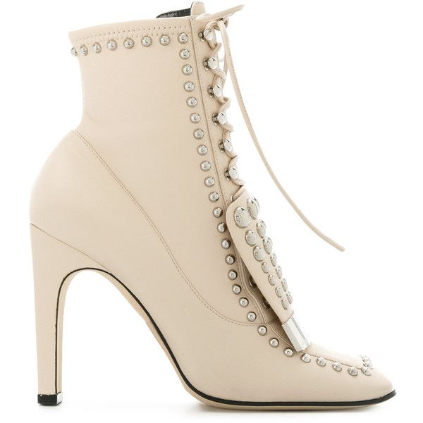Sergio Up Lace Rossi Studded Boots Ankle TrgTq