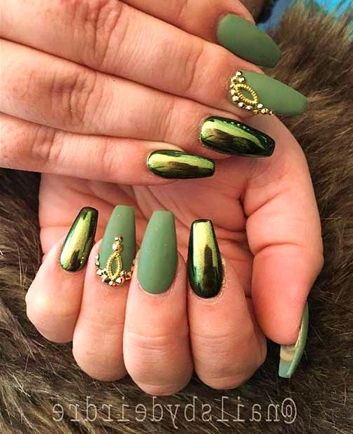 36 Prettiest Khaki Nail Art Ideas You\'ll Love | Pinterest | Green ...